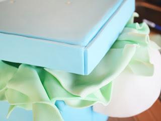 cómo hacer la pasta de azúcar de bienvenida al bebé de la torta a tope tutorial