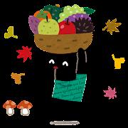 秋の味覚のイラスト(ぴょこ)