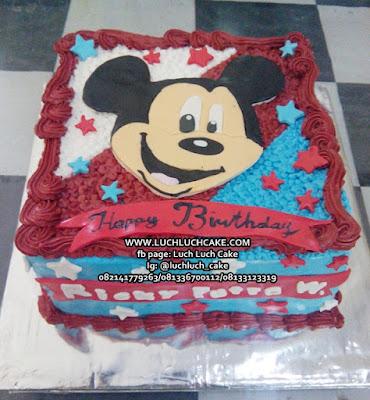 Kue Ulang Tahun Mickey Mouse Buttercream