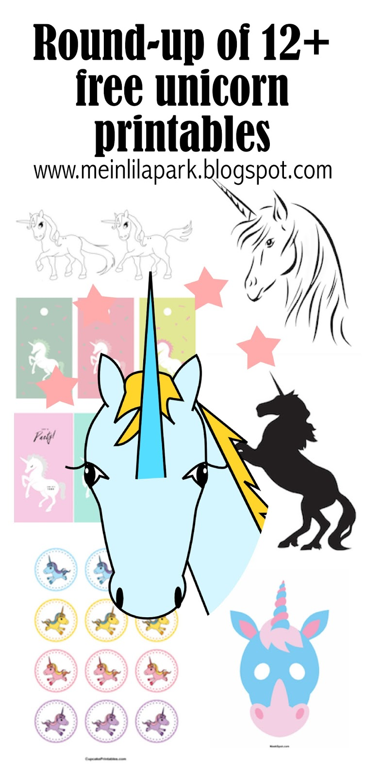 Witty image in free unicorn printable