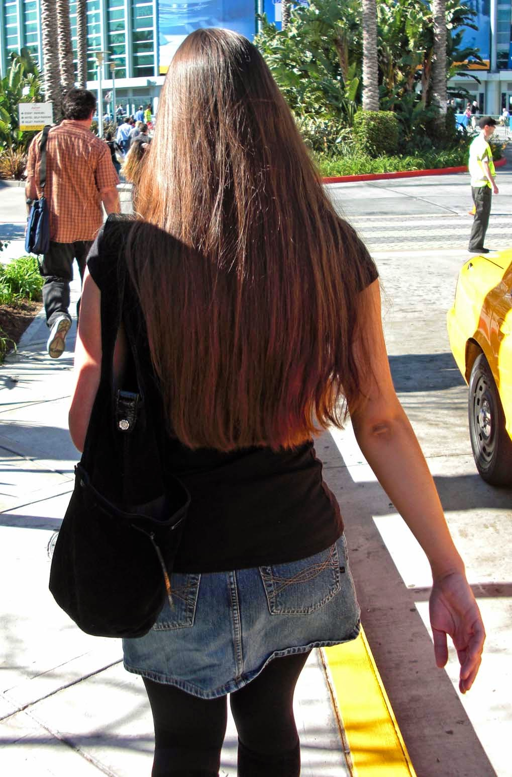 Long Haired Women Hall Of Fame Great Candid