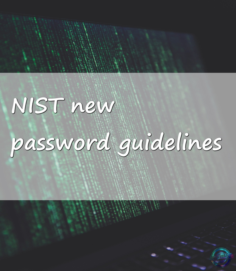 NIST declare new password guidelines