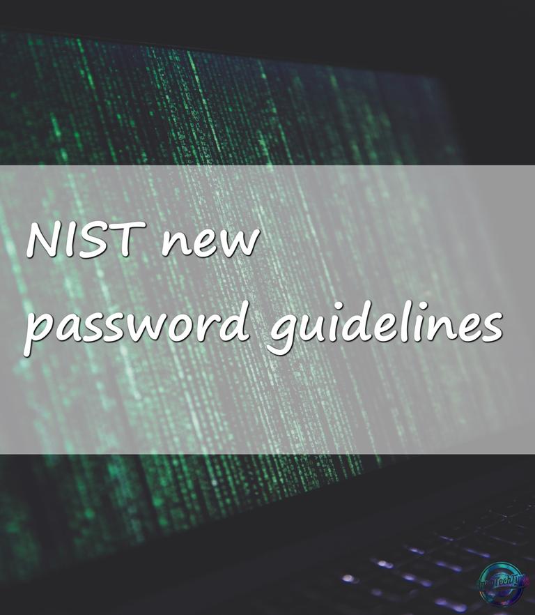 NIST declare new password guidelines