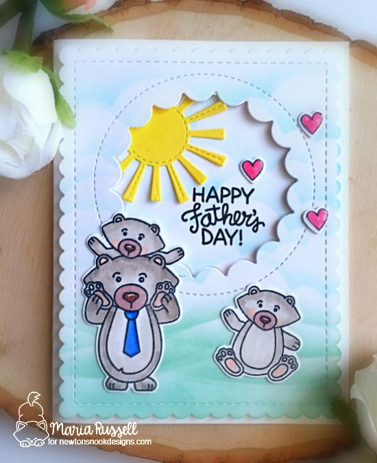 Father's Day Bear Card by Maria Russell | Papa Bear Stamp Set by Newton's Nook Designs #newtonsnook #handmade