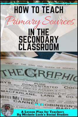 Easy how-to instructions and ideas for teaching primary sources and analysis in the middle or high school classroom.  Add the first step to every lesson plan for greater student success!