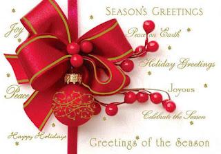 Kartu Ucapan Natal Merry Christmas 8008