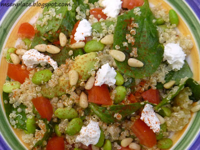 Avocado, Quinoa, and Edamame Salad
