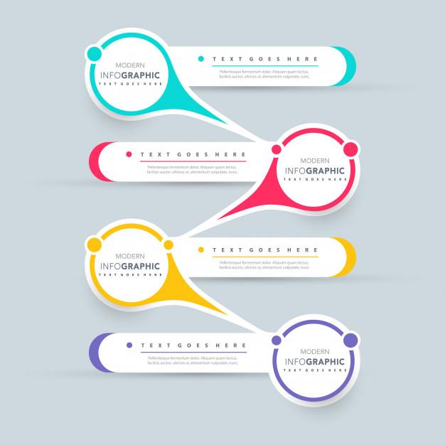 Infographic presentation design Free Vector