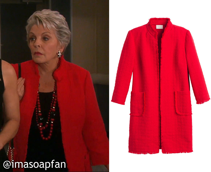 Julie Williams's Red Tweed Jacket - Days of Our Lives, Season 51, Episode 08/25/16