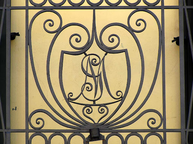 Balcony railing with monogram, Livorno
