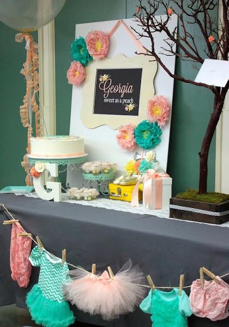 Decoração DIY para Chá de Fraldas Menina - Dicas Grupo Ágata