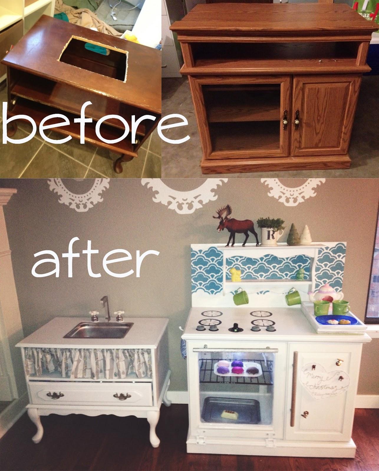 Inspiring Second Hand Cabinets 4 Dark Cherry Kitchen: Adventures In Crafting By KatyANDzucchini