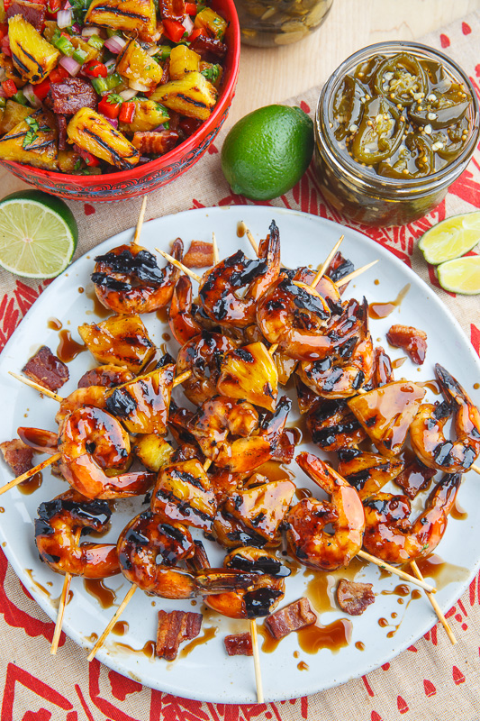 how to cook shrimp on the grill with skewers