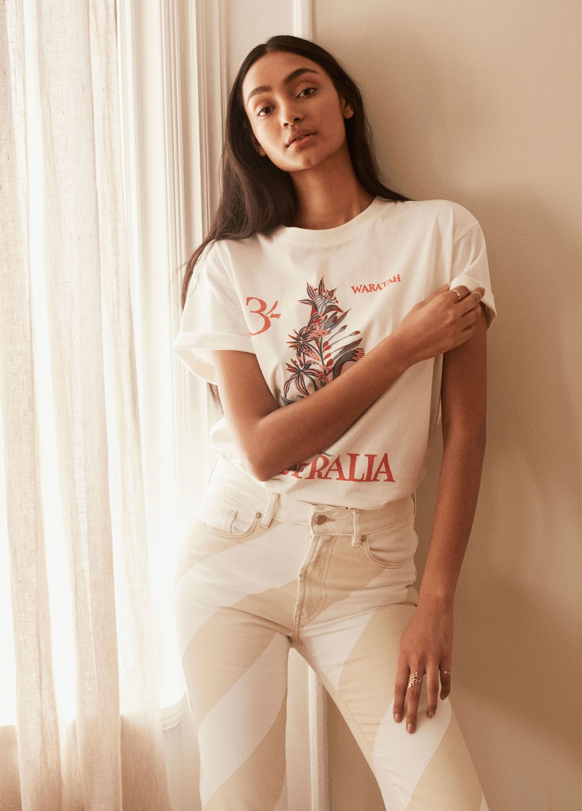 4 Budget-Friendly Summer Outfit Ideas — Graphic Tee and Striped Colorbock Jeans