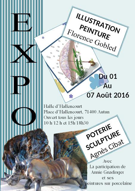 expo peinture, illustration, livres pour enfants, poterie, peinture sur porcelaine Autun Bourgogne