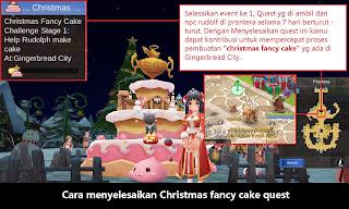 Cara Menyelesaikan Quest Christmast Fancy Cake Challenge Ragnarok Mobile Eternal Love