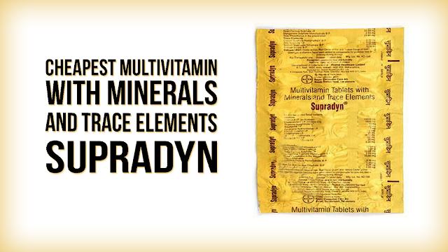 Cheapest Multivitamin with Vitamins, Minerals & Trace elements - SUPRADYN