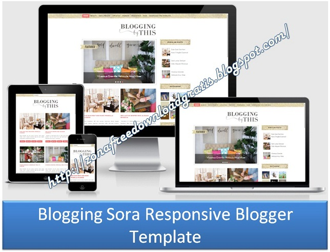 Blogging Sora Responsive Blogger Template