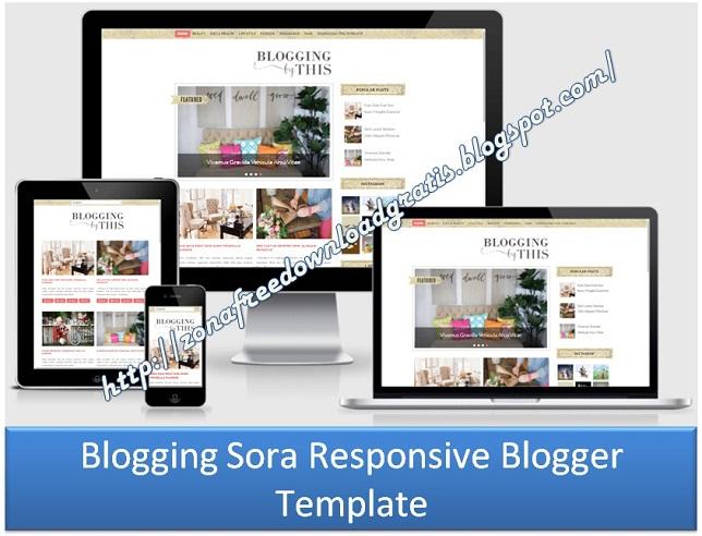 Blogging Sora Responsive Blogger Template
