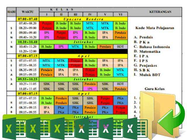 Download Aplikasi Jadwal Pelajaran Terbaru Full Color Semua Jenjang Sekolah