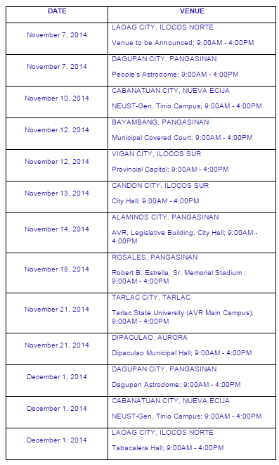 August 2014 LET passers registration, oathtaking schedule (PRC