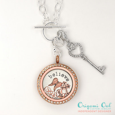 Origami Owl Believe Mixed Metals Living Locket from StoriedCharms.com