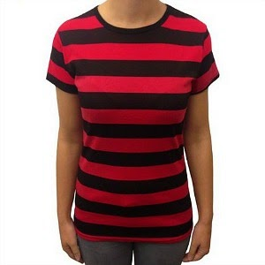 Black and Red Striped T-shirt by Flip