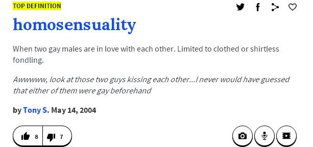 Homosensuality