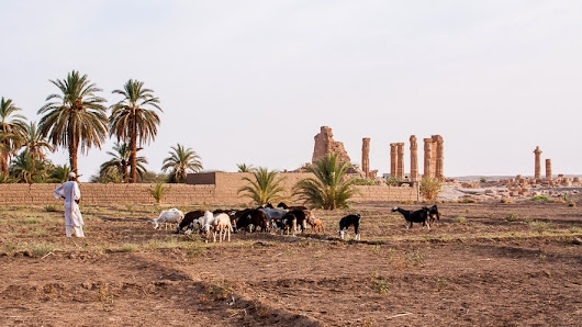 In a small Nubian village