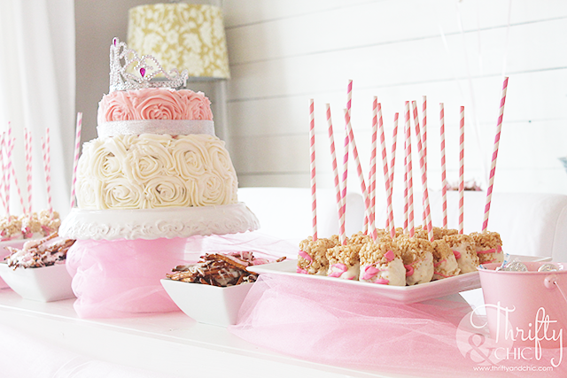 DIY princess birthday party decor and decorating ideas. Princess birthday party food ideas and princess birthday cake