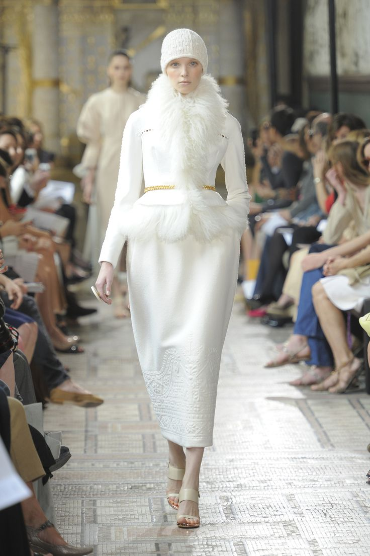 runway look: vintage inspired white suit Christophe Josse Haute Couture FW2013