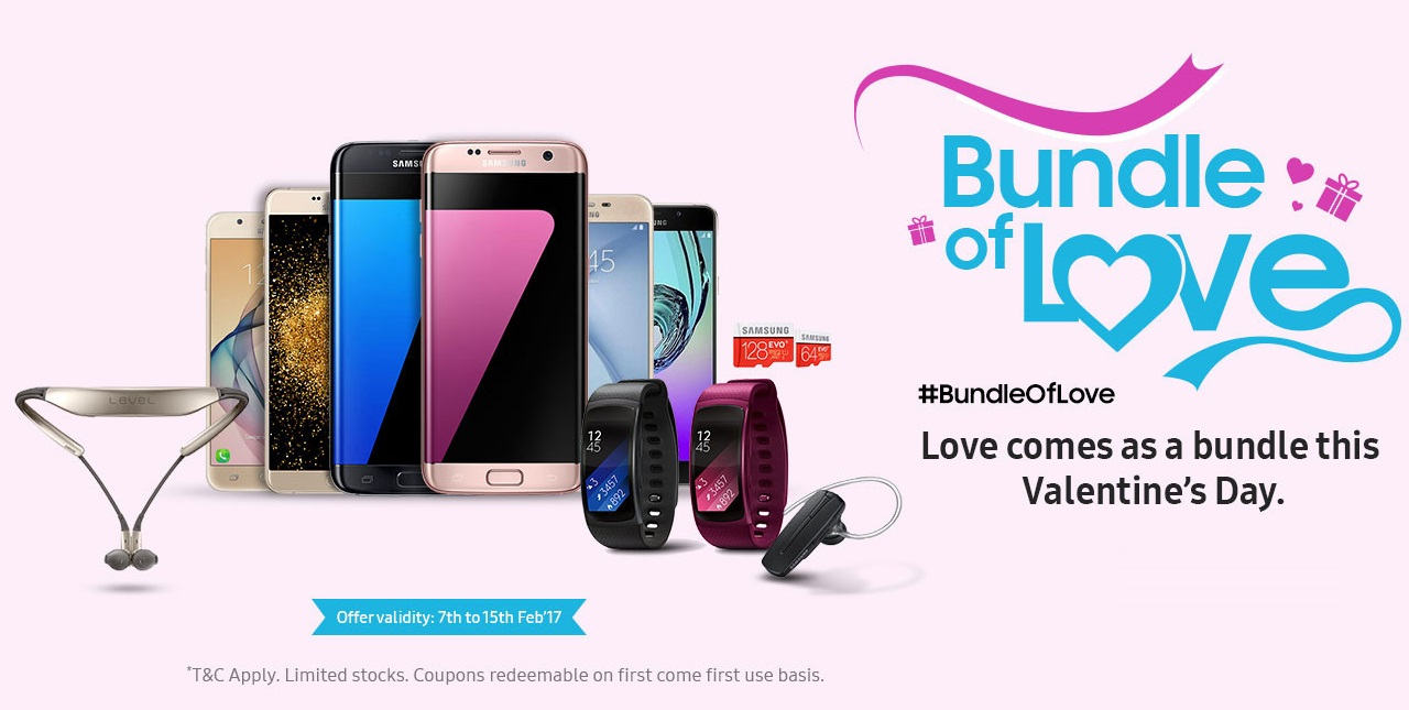 Samsung in India offering gifts targeting Valentine's day