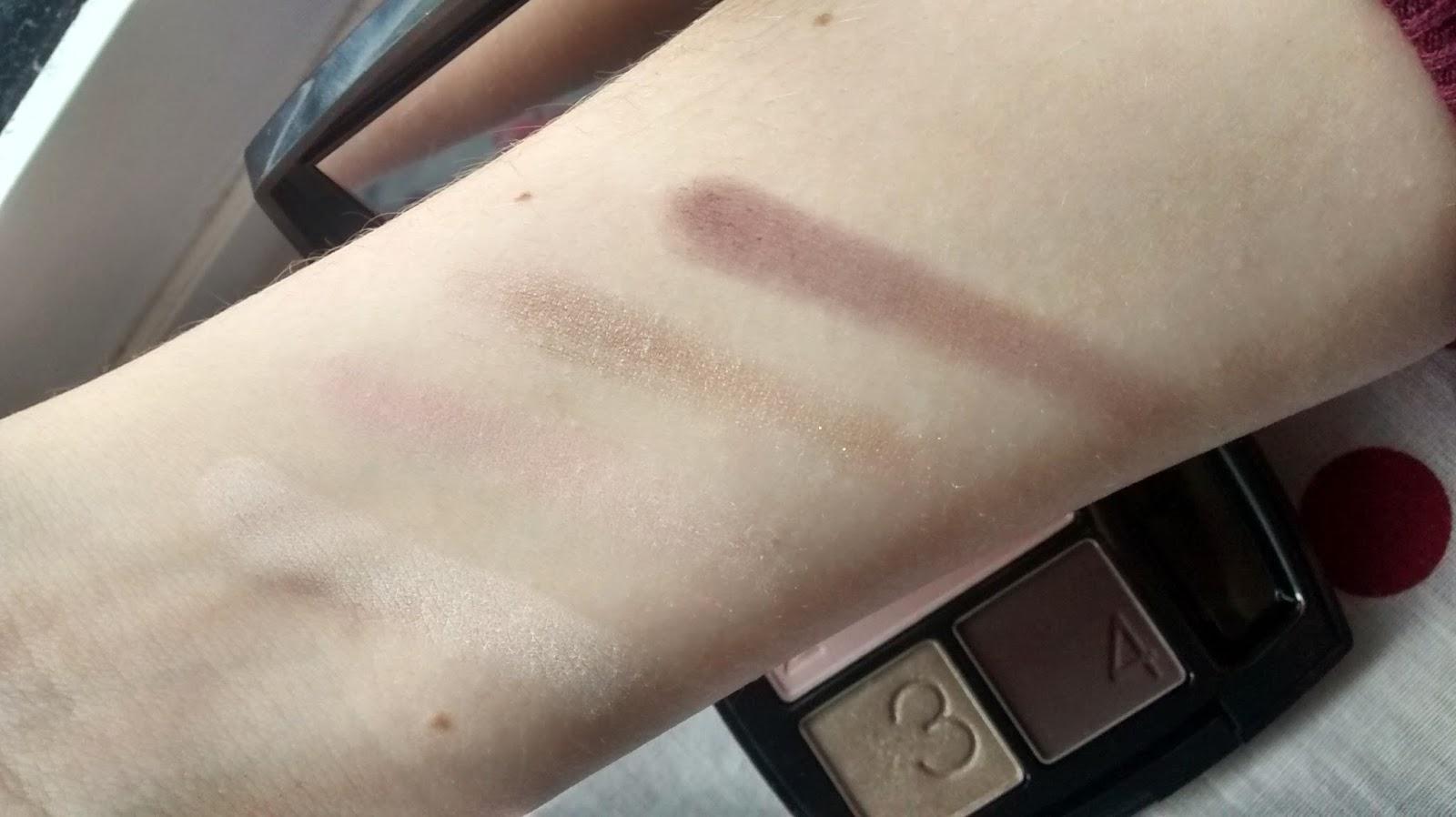 Avon Berry Love Eyeshadow Quad Swatches