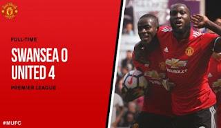 Video Cuplikan Gol Swansea City vs Manchester United 0-4