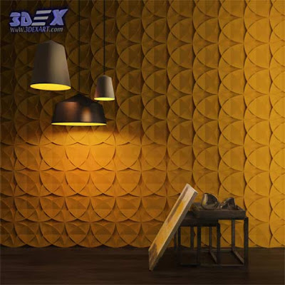 3d gypsum wall panels, 3d plaster wall paneling design, decorative wall panels, yellow walls
