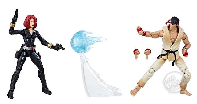 Hasbro Marvel Marvel vs Capcom Infinite Gamerverse Action Figures Black Widow vs Street Fighter's Ryu