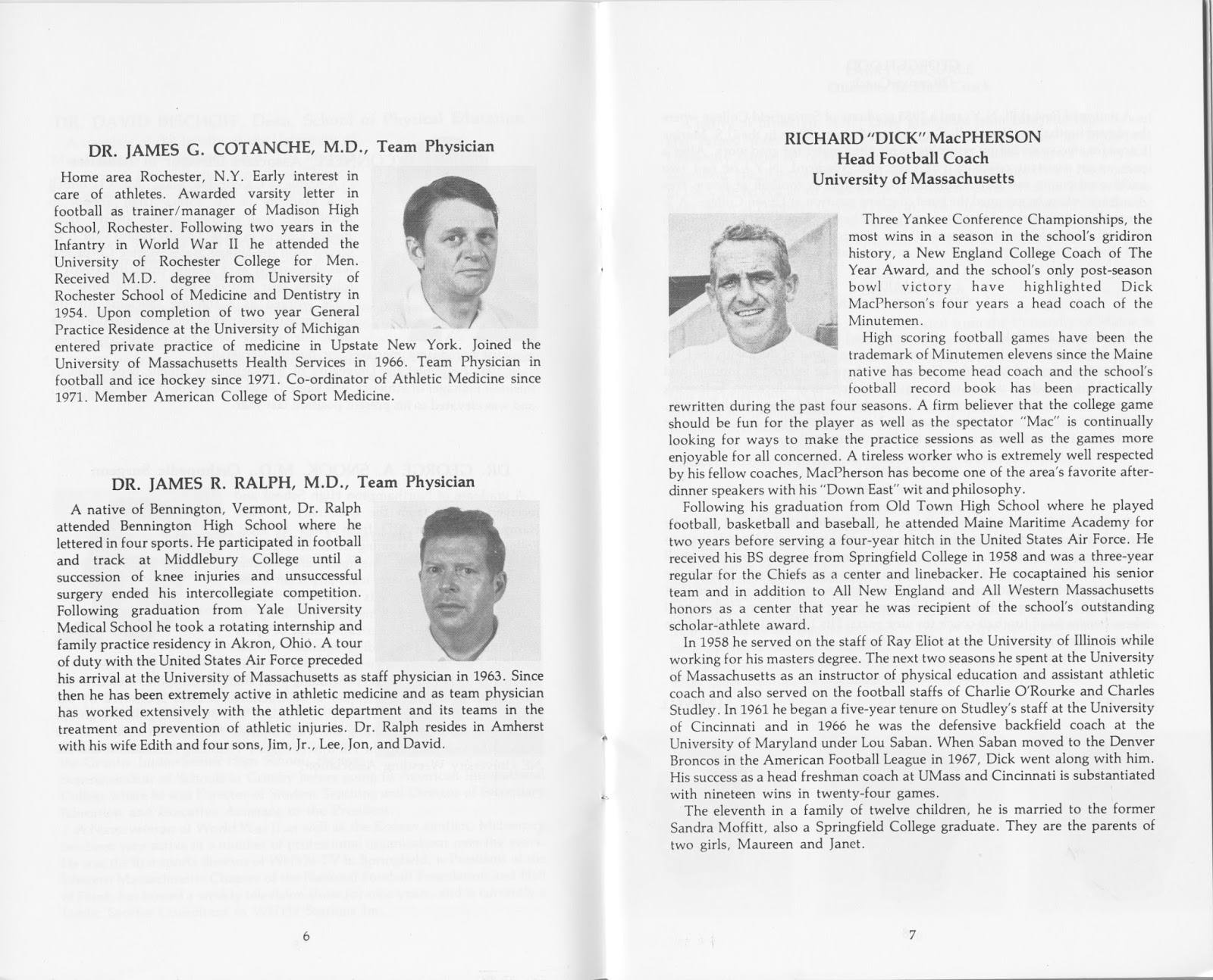 UMass Football Blog: UMass Football History--Scans of the