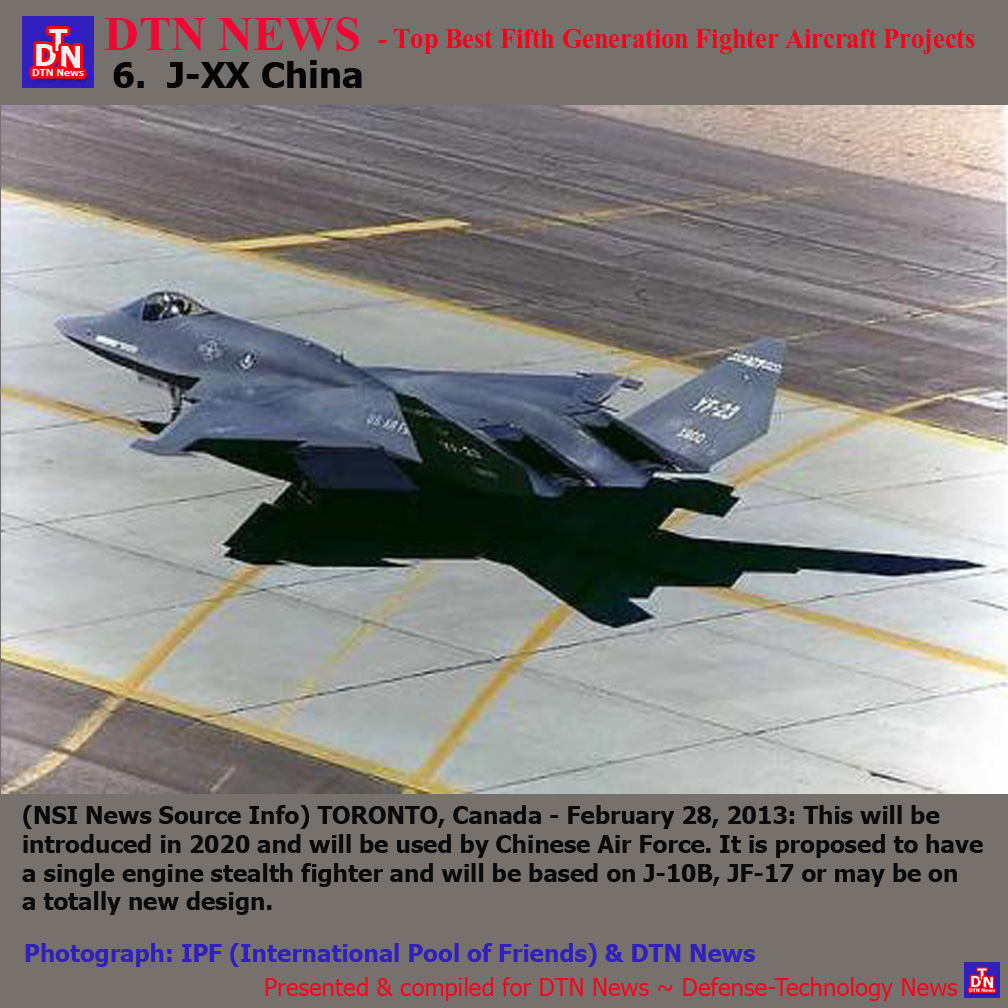 DTN News - Top Best Fifth Generation Fighter Aircraft Projects  6. J-XX  China 57b670ccfd