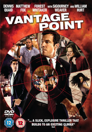 Poster of Vantage Point 2008 Full Movie BRRip 480p Dual Audio 300Mb ESub