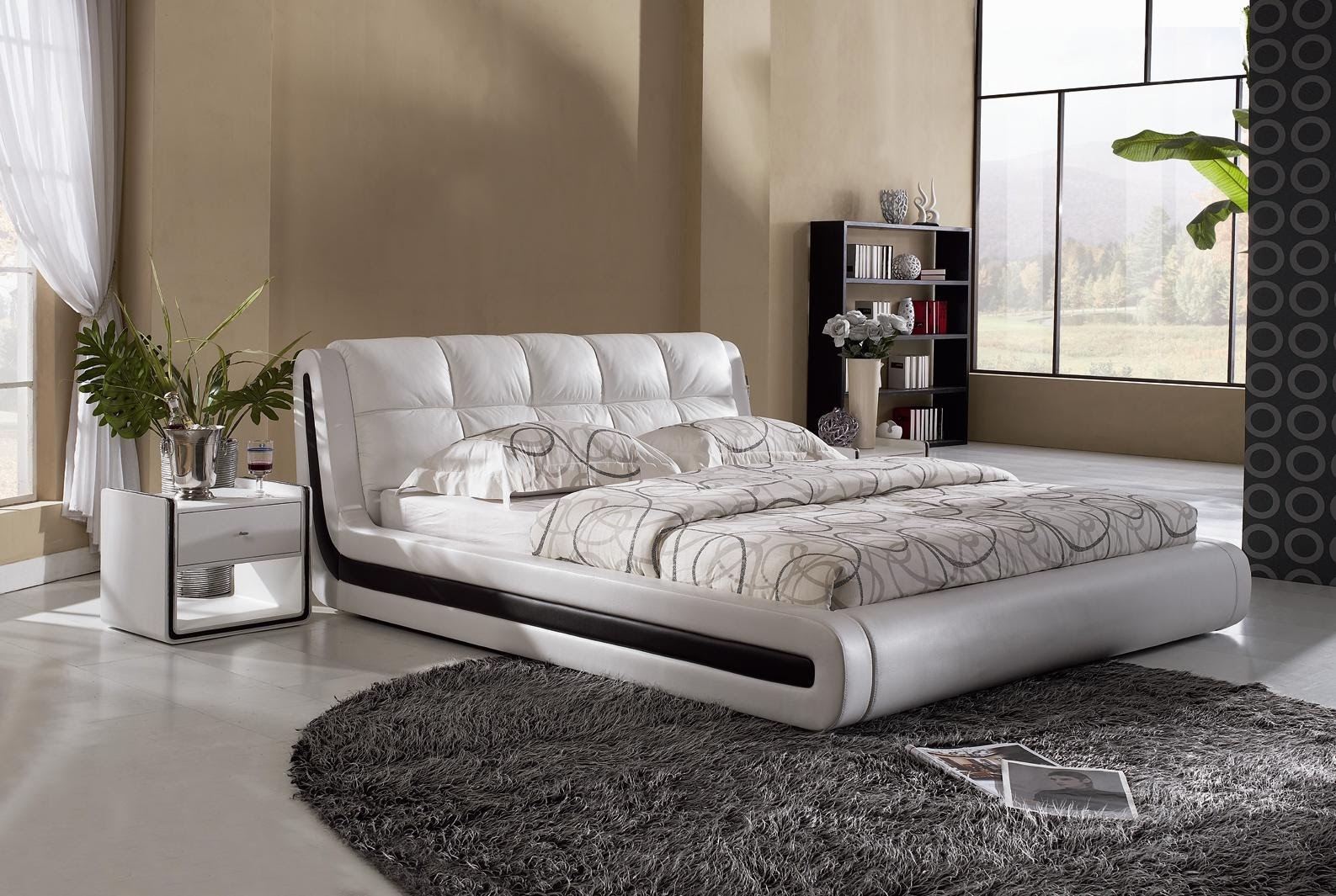 Magnificent Modern Bed Designs Pictures In Hd Free Wallpaper Home Interior And Landscaping Ologienasavecom