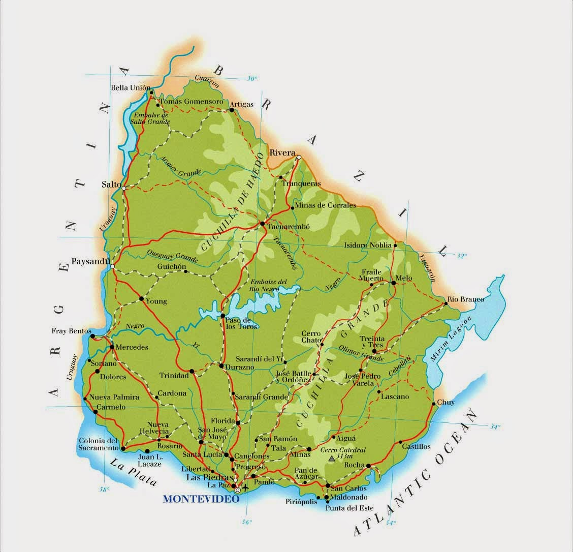 Uruguai | Mapas Geográficos do Uruguai
