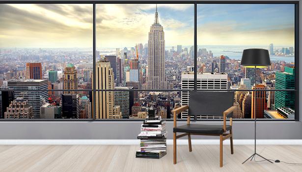 Voimakas Tapetti New York Manhattan Valokuvatapetti