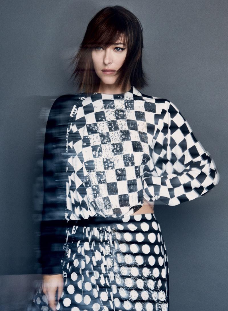 Dakota Johnson dons Louis Vuitton dress