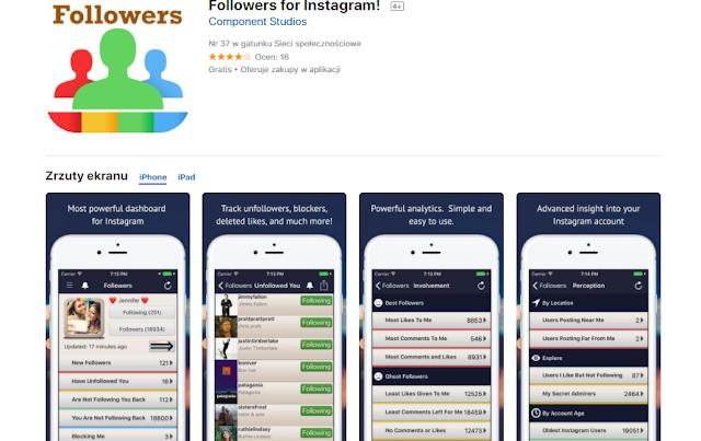 aplikacja do sprawdzania obserwacji na instagramie