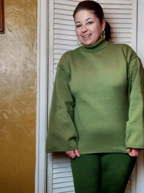 Khaki Green Polo Neck Sweater
