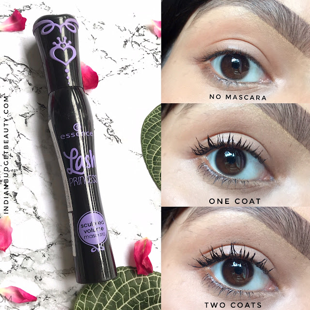 essence lash princess sculpted volume mascara swatch