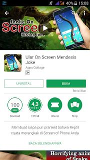 aplikasi snake on screen