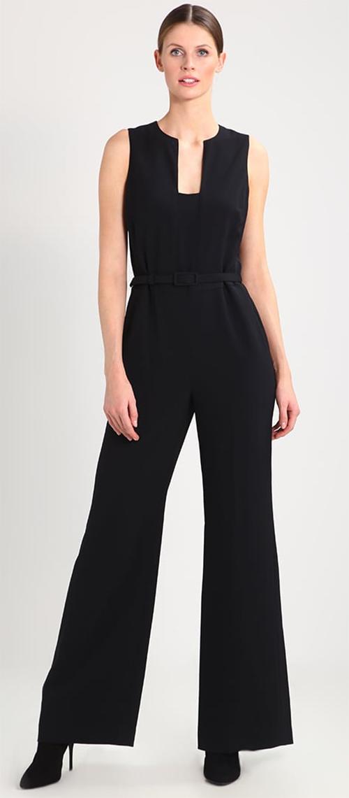 Combinaison pantalon femme noire sans manches Lauren Ralph Lauren