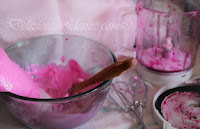 gelato al dragonfruit rosso
