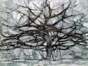 Árvore Cinza - Piet Mondrian e Suas Pinturas | Criador do Neoplasticismo